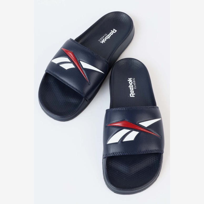 118de135942b Reebok Classic Slide V Navy White Red