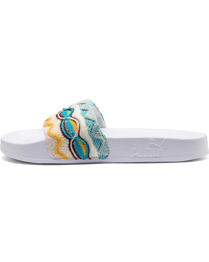 Puma Women's Leadcat Coogi Multi Slides White/Gold