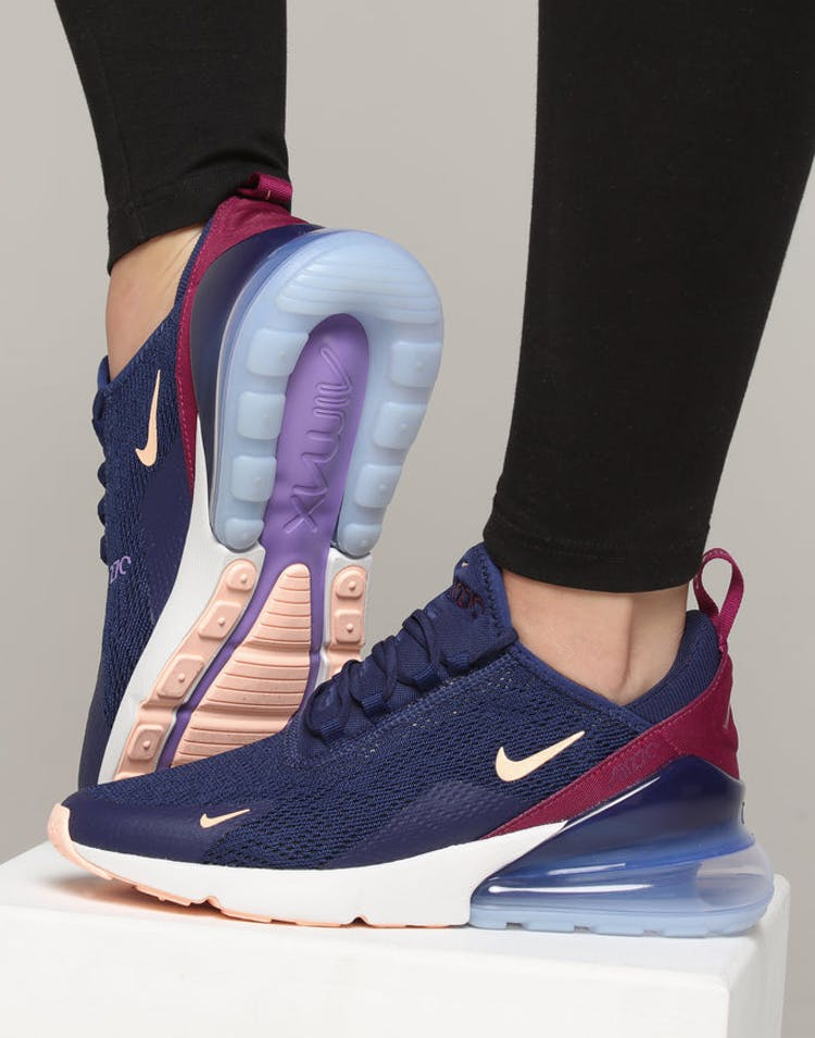 premium selection e3f04 e4897 Nike Women's Air Max 270 dark Blue/Crimson