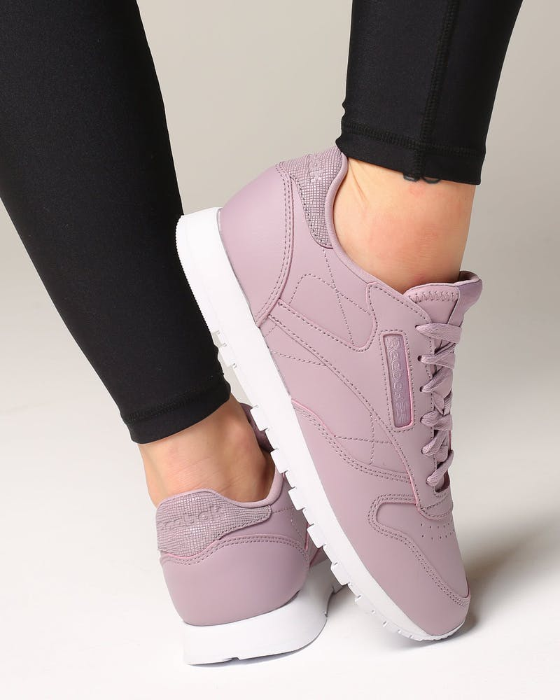 Reebok Women's Classic Leather Lilac/White
