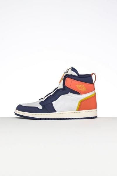 60041045e7e Jordan Women's Air Jordan 1 High Zip Sail/Blue/Orange