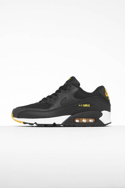 outlet store 08416 187b0 Nike Air Max 90 Essential Black Yellow White