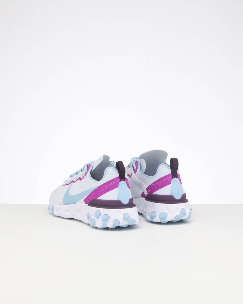 Nike Women's React Element 55 Grey/Blue/Violet