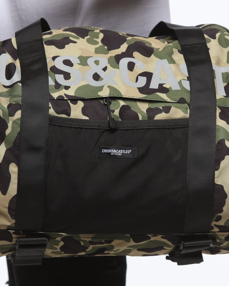 CROOKS & CASTLES NEW CORE DUFFLE CAMO