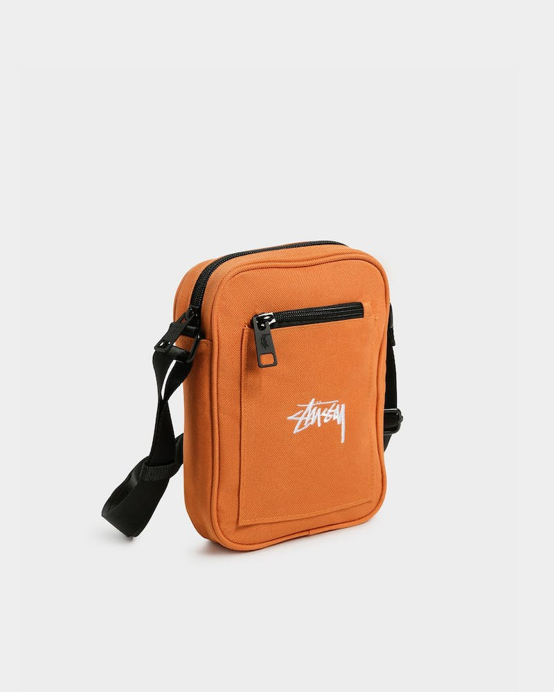STUSSY STOCK MESSENGER BAG RUST