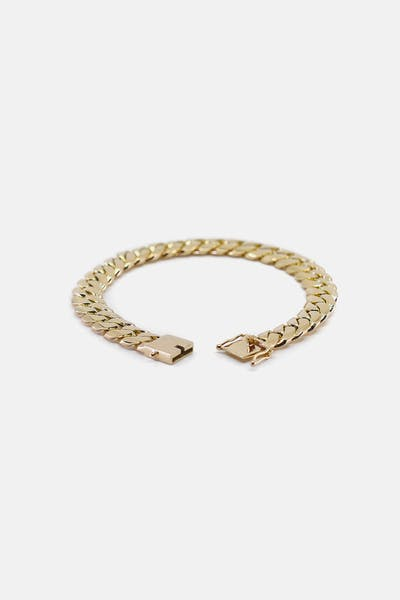 "HOUSE OF AURIC 10MM CUBAN LINK 8"" BRACELET 10K GOLD"