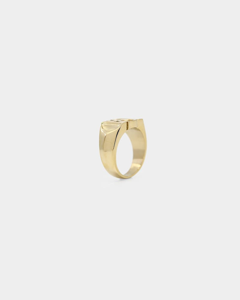 Saint Morta Monogram Ring Gold