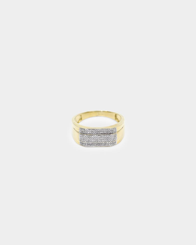 House of Auric Trinary Ring 10K Yellow Gold