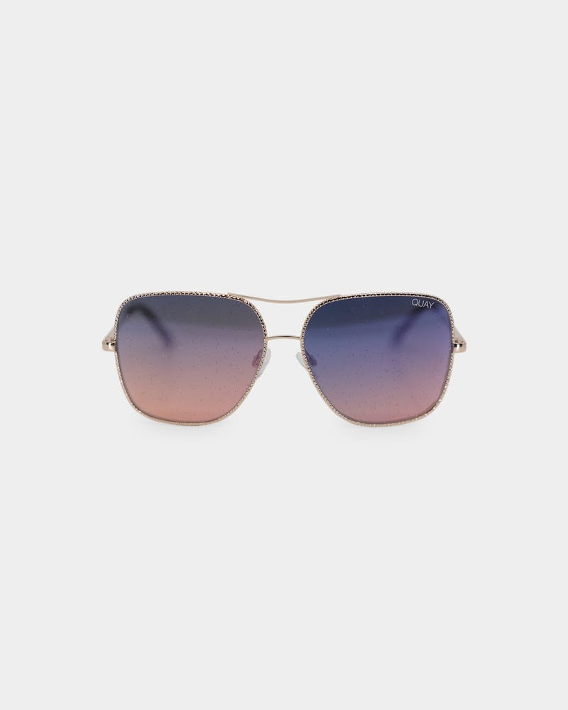 Quay Australia Women's Stop And Stare Twist Gold/Navy Peach
