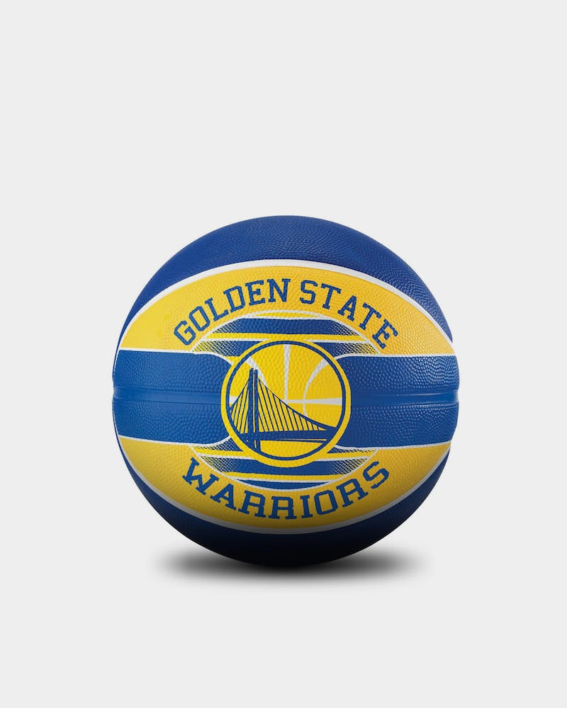 Spalding x NBA Team Series Golden State Warriors Basketball Blue/Yellow