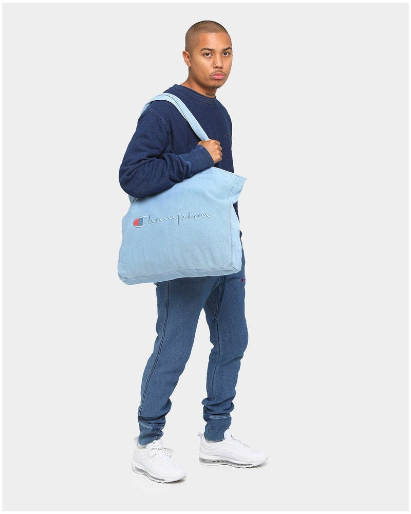 Champion Reverse Weave Rebound Tote Bag Chambray Washed
