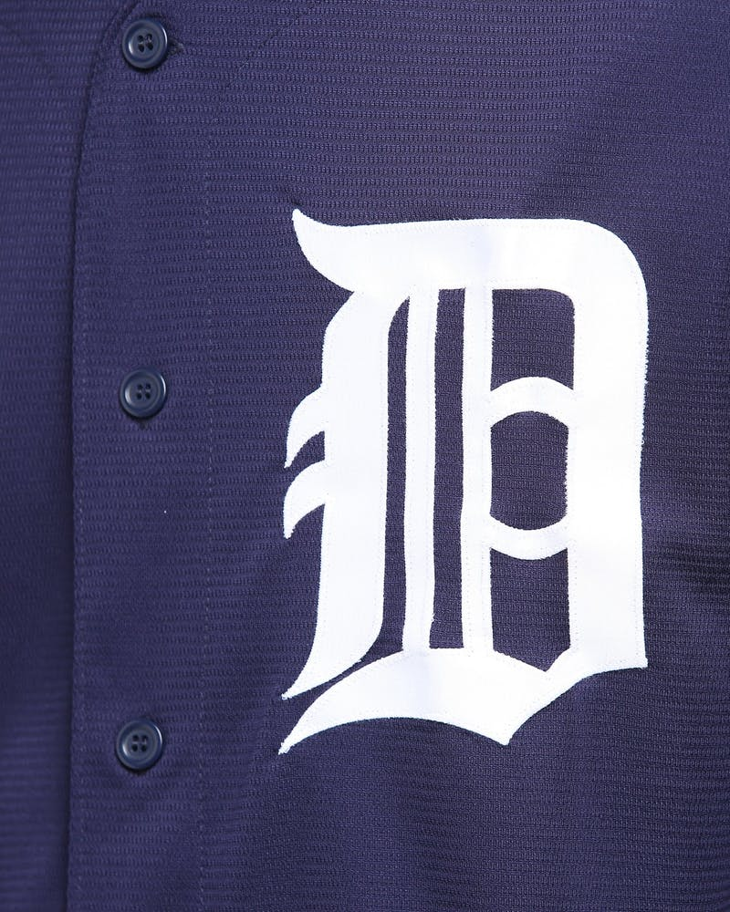 MAJESTIC ATHLETIC DETROIT TIGERS ALT COOL-BASE BASEBALL JERSEY NAVY