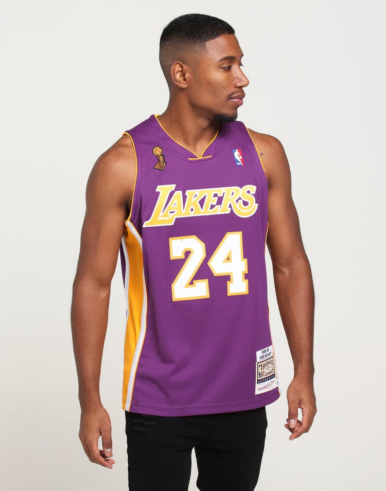 low priced 3fb01 cb362 Mitchell & Ness Los Angeles Lakers Kobe Bryant #24 Authentic NBA Jersey  Purple