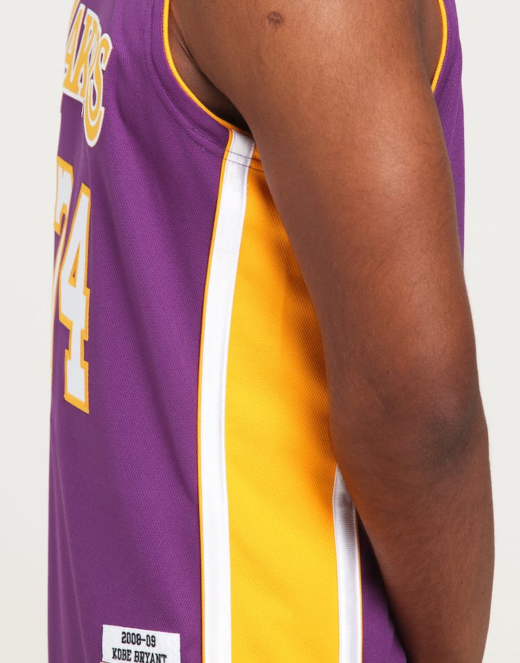 low priced c5ae4 39d9b Mitchell & Ness Los Angeles Lakers Kobe Bryant #24 Authentic NBA Jersey  Purple