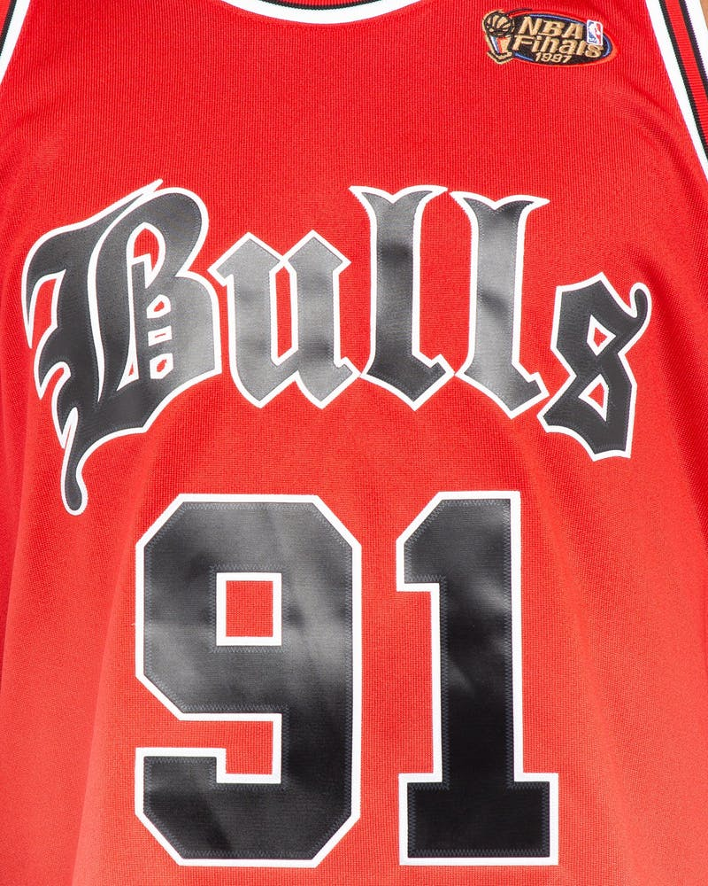 Mitchell & Ness Chicago Bulls Dennis Rodman #91 O.E Faded Jersey Red