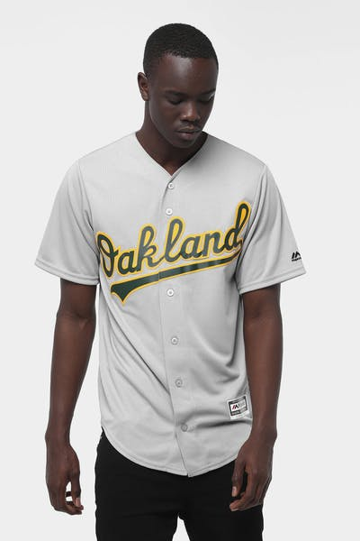 Majestic Athletic Oakland Athletics Cool Base Jersey Grey