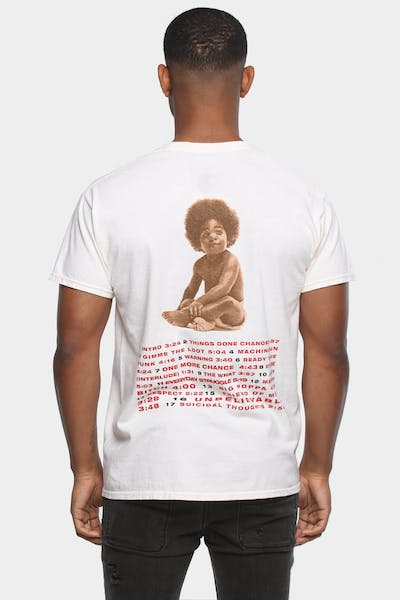 NOTORIOUS B.I.G BIGGIE BABY R.T.D COVER TEE CREAM