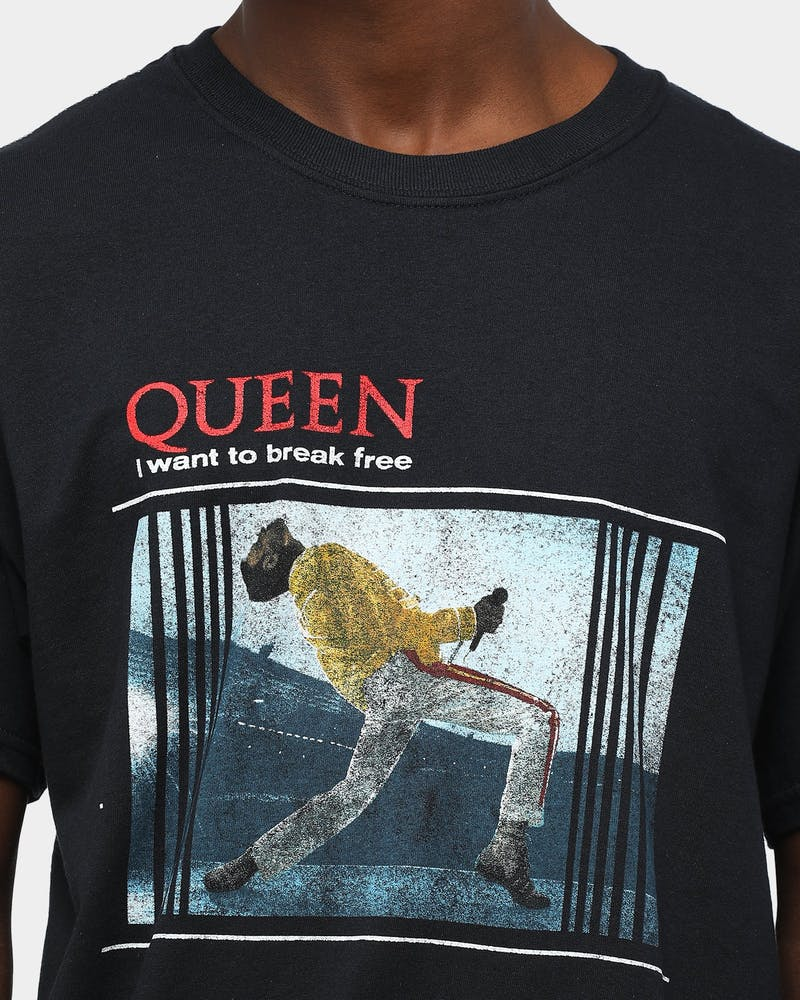 Queen Merch I Want To Break Free Short Sleeve T-Shirt Black
