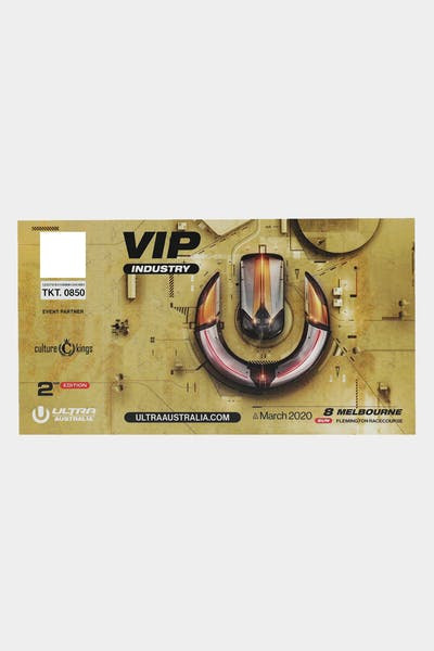 Ultra Music Melbourne VIP Physical Ticket