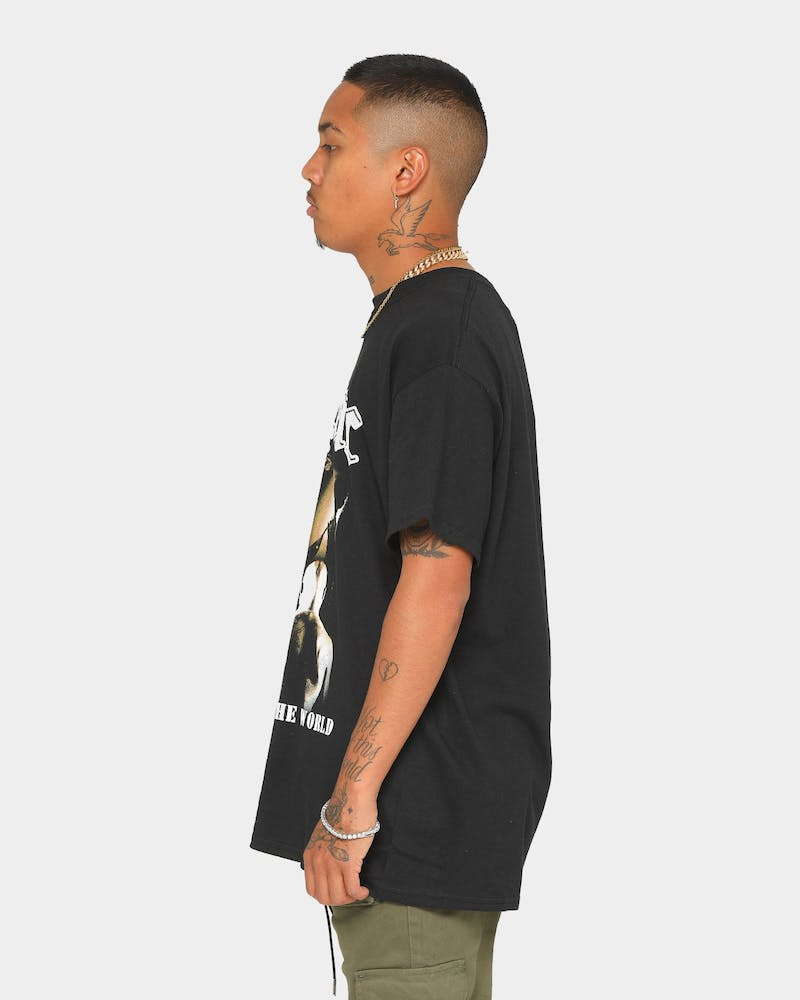 TUPAC Sepia Short-Sleeve T-Shirt Black