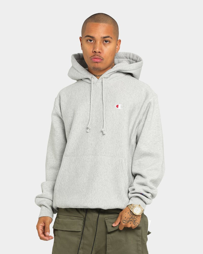 Champion Rev Weave Hoodie Grey