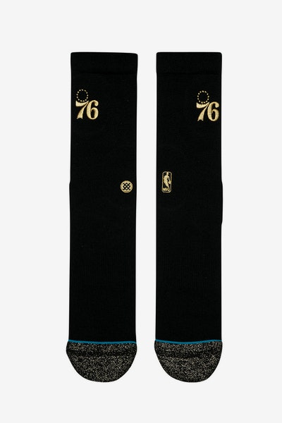 Stance Sixers Trophy Sock Black