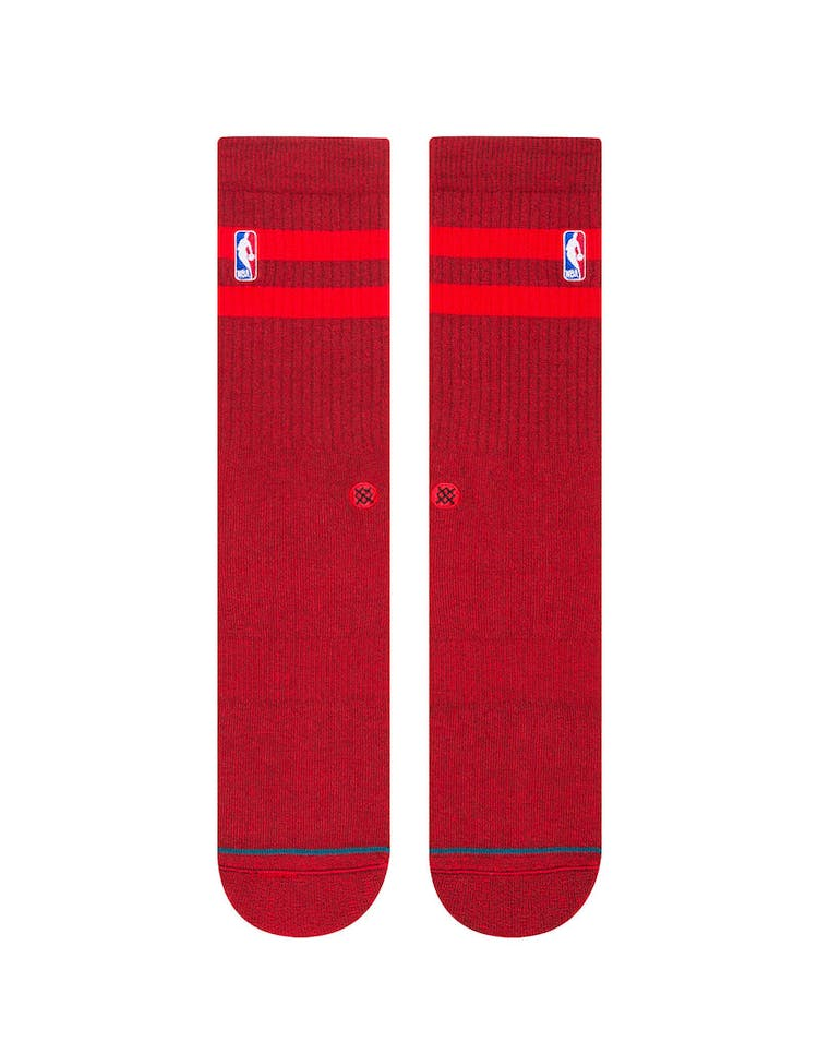 Stance NBA Hoven Crew Sock Red