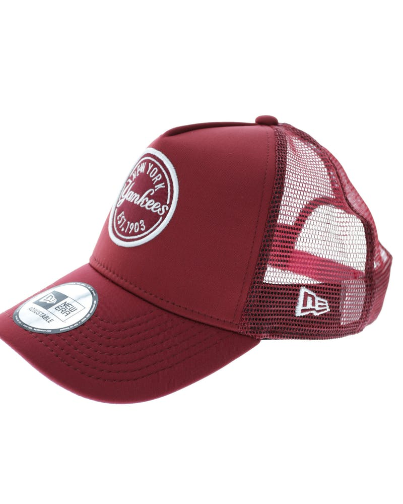 New Era Yankees 9FORTY A-Frame Patch Trucker Cardinal
