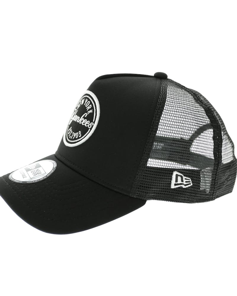 New Era Yankees 9FORTY A-Frame Patch Trucker Black/black