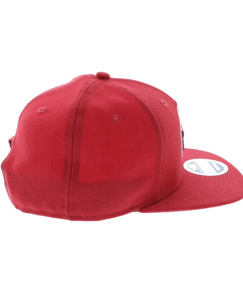 New Era 76ers Original Fit Snapback Scarlet/Light Red