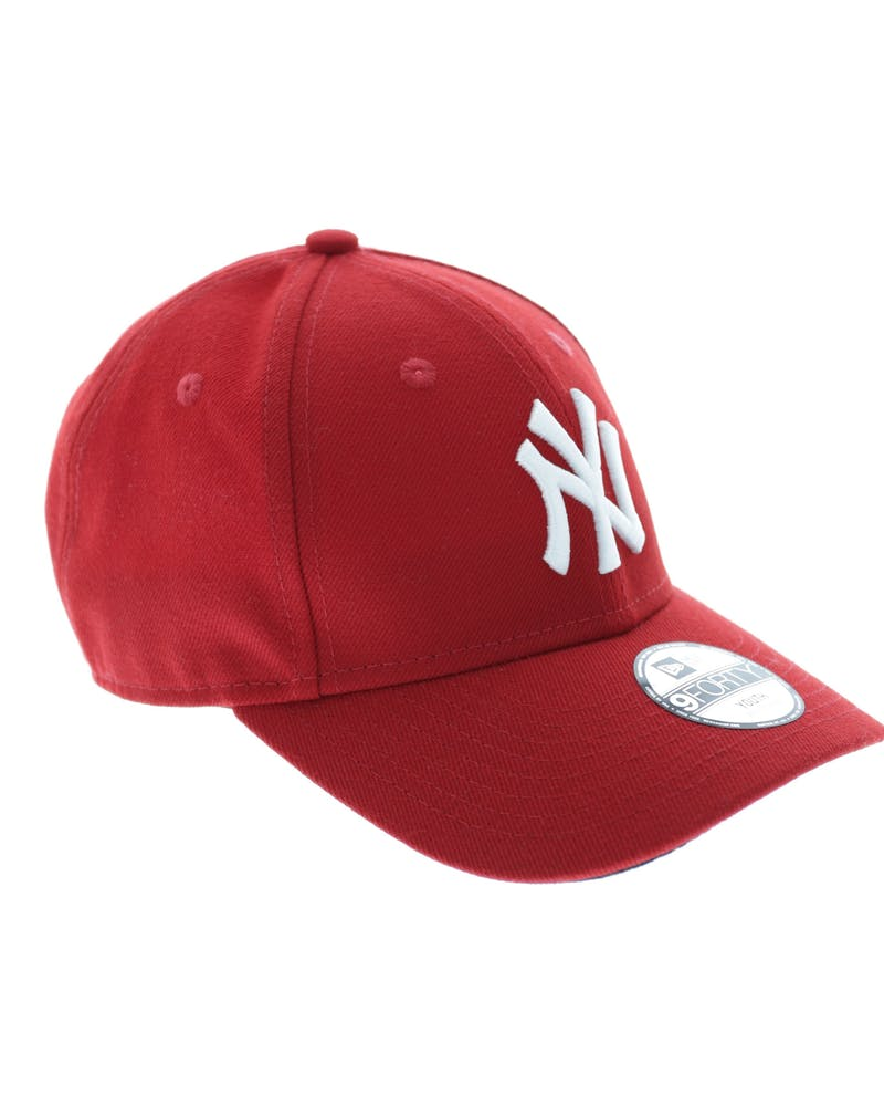 New Era Youth Yankees 9FORTY Velcro Back Scarlet/Black