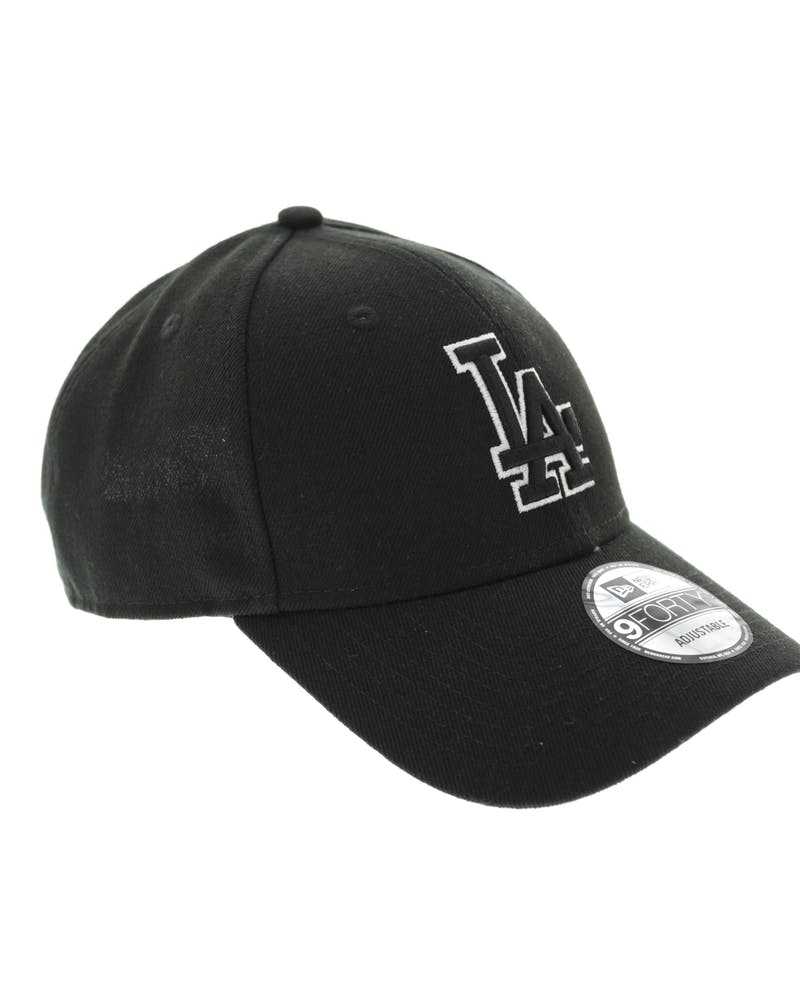 New Era Dodgers 9FORTY Outline Snapback Black/White