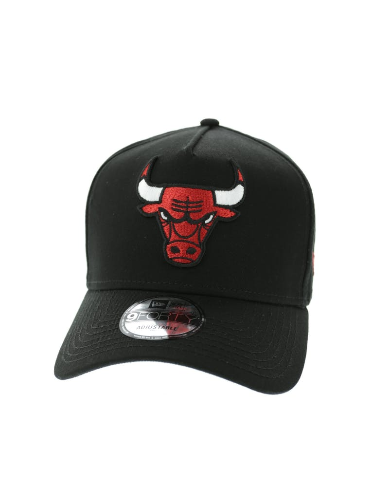 New Era Bulls 9FORTY A-Frame Strapback Black