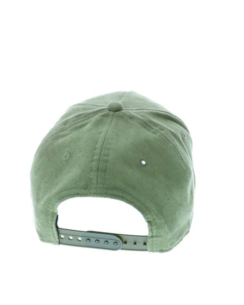 New Era Yankees 9FORTY A-Frame Suede Snapback Olive
