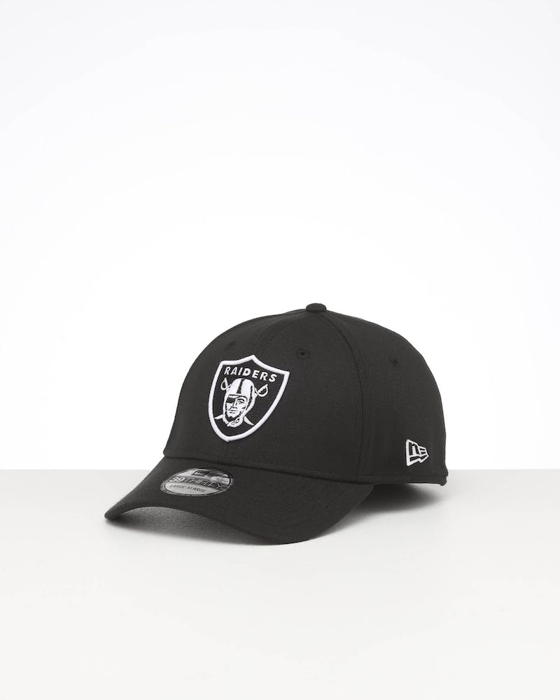 NEW ERA OAKLAND RAIDERS LOGO FITTED 39THIRTY BLACK