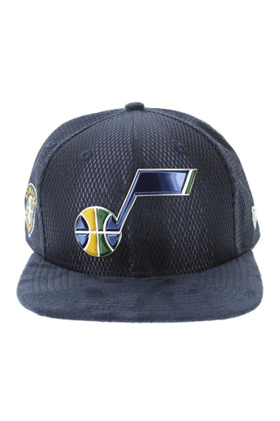 New Era Utah Jazz 9FIFTY Original Fit On-Court Collection Draft Snapback Navy