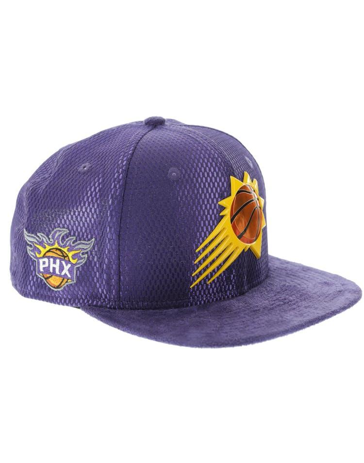 on sale 902dd 7384e New Era Phoenix Suns 9FIFTY Original Fit On-Court Collection Draft Snapback  Purple