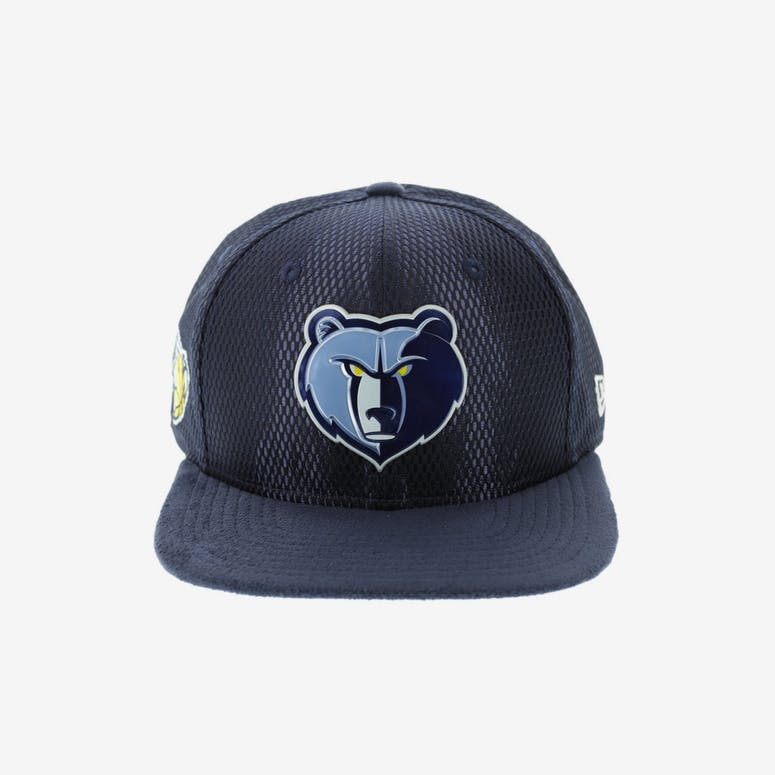 a40c8f465cf New Era Memphis Grizzlies 9FIFTY Original Fit On-Court Collection Draft Snapback  Navy