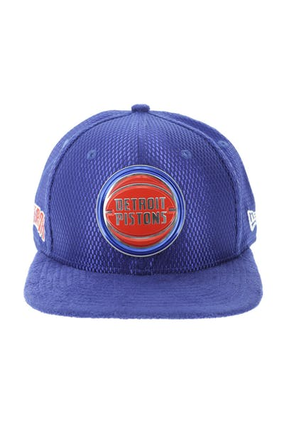 New Era Detroit Pistons 9FIFTY Original Fit On-Court Collection Draft Snapback Royal