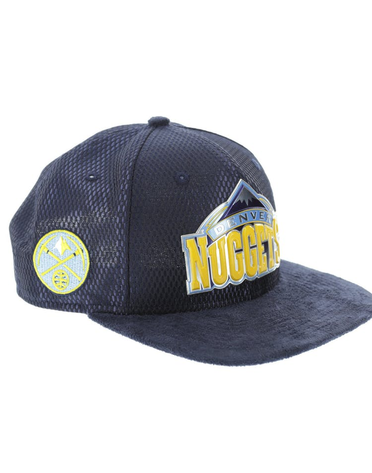 b7f4475fb9333 New Era Denver Nuggets 9FIFTY Original Fit On-Court Collection Draft  Snapback Navy
