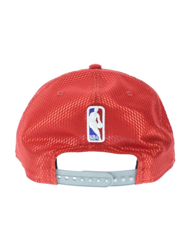 huge discount 77c2e c5f8a New Era Atlanta Hawks 9FIFTY Original Fit On-Court Collection Draft  Snapback Red