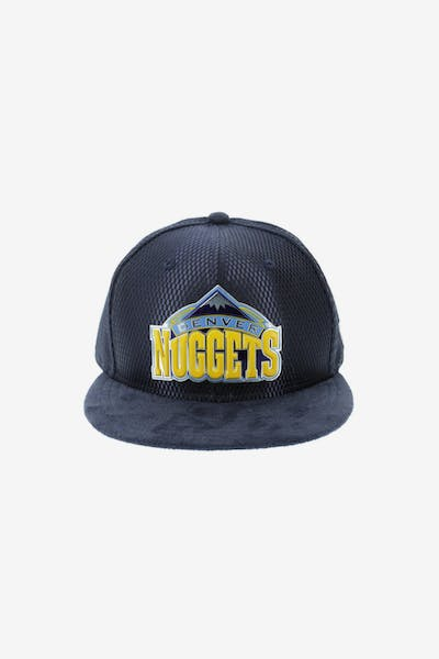 New Era Denver Nuggets 59FIFTY Fitted On-Court Collection Draft Navy