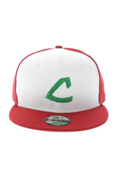 New Era Cleveland Indians Youth Pokemon 9FIFTY Snapback White/Scarlet