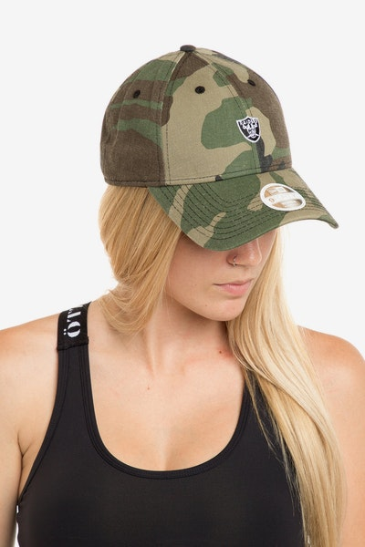 New Era Ladies Oakland Raiders 940 Mini Strapback Camo