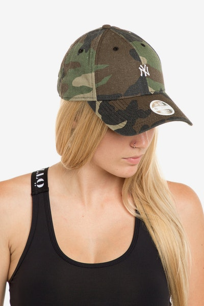 New Era Ladies New York Yankees 940 Mini Strapback Camo