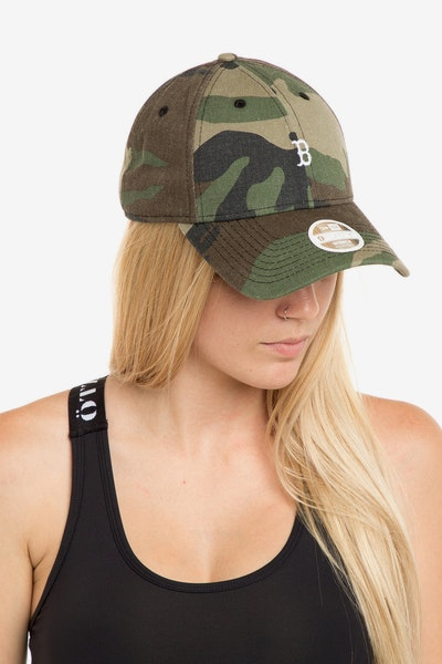 New Era Ladies Boston Red Sox 940 Mini Strapback Camo