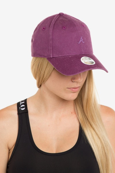 New Era Women's Atlanta Braves 940 Strapback Burgundy