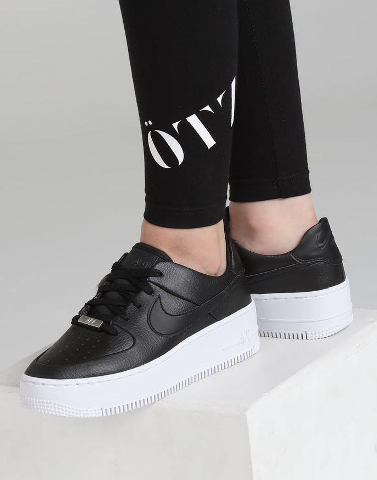 30b75565c2 Nike Air Force 1 Sage Low Black/Black/White – Culture Kings NZ