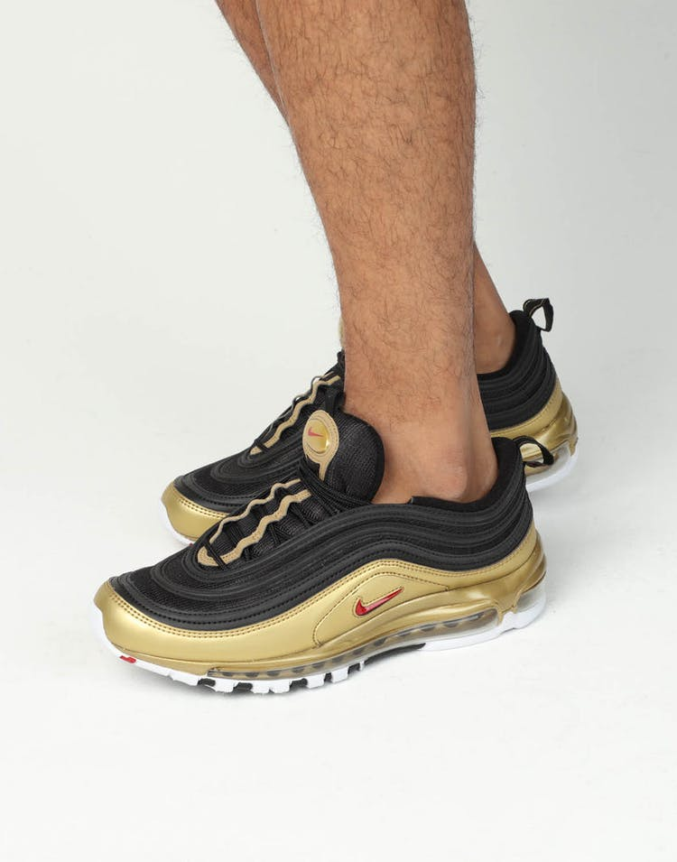 new style 3ea09 a2a5c Nike Air Max 97 QS Black/Red/Gold