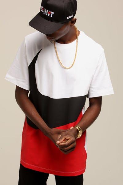 Nike Sportswear Swoosh Tee White Red Black 2f94652a3